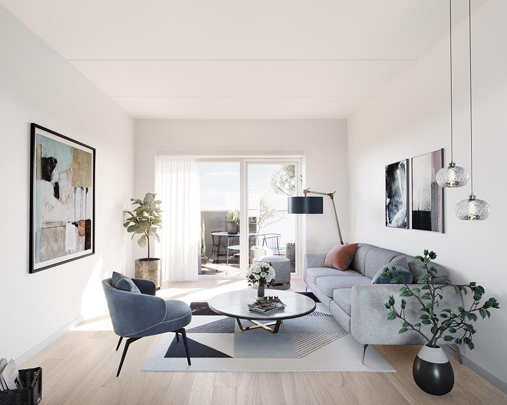 Indendørs ventilation i Ravnsborghave bolig med Endura Twist