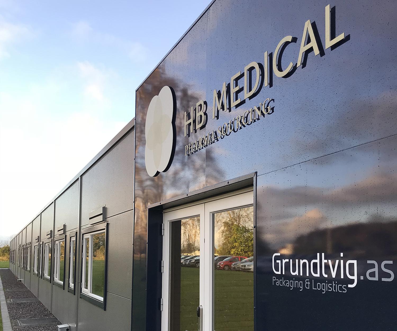 Indgangen til HB Medical