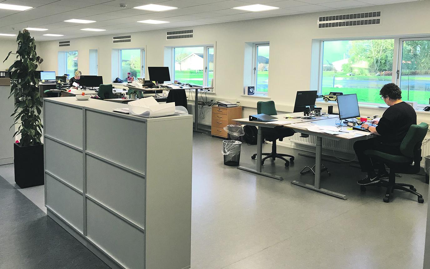 Åbent kontor hos HB Medical med MicroVent ventilationssystem