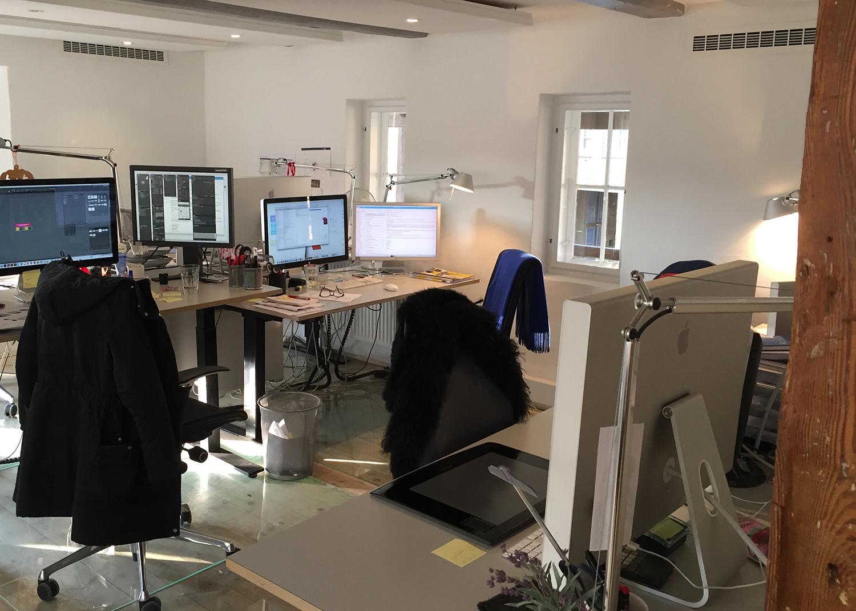 Åbent kontor i Agency Spring lokaler med MicroVent ventilation