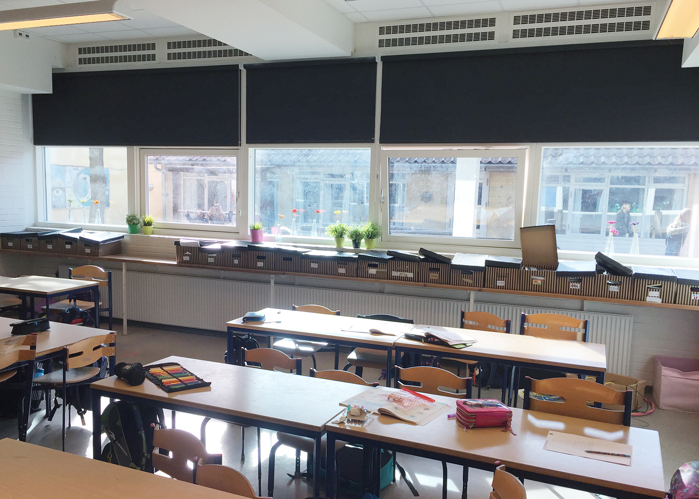 MicroVent ventilation i undervisningslokaler på Birkerød Privatskole