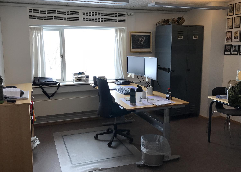 MicroVent ventilation i kontor på Høvelte Kaserne