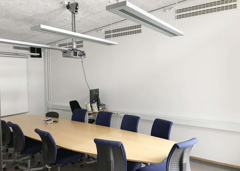 MicroVent ventilationssystem i mødelokale på Høvelte Kaserne