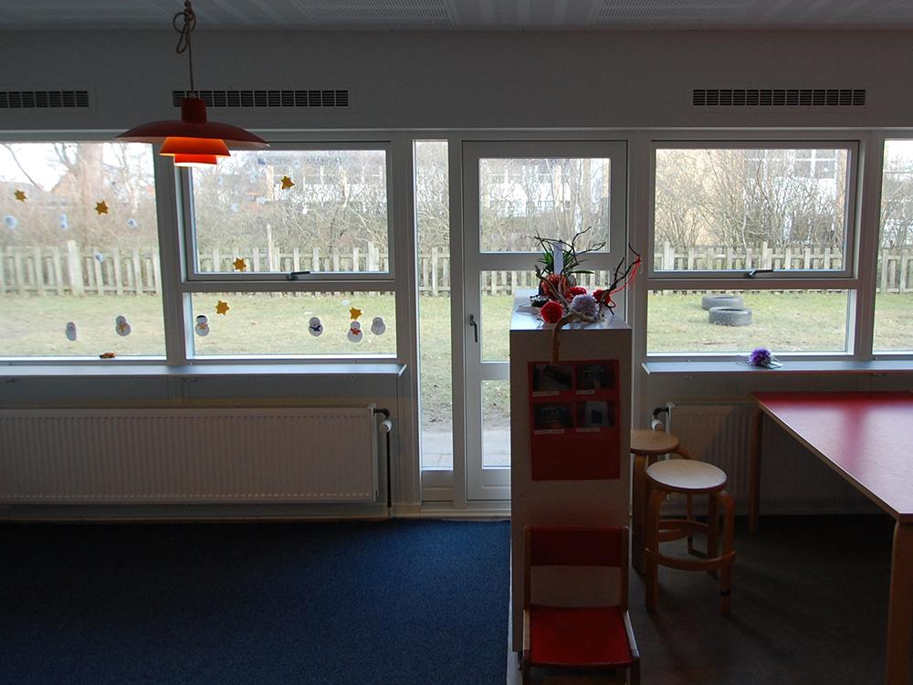 MicroVent ventilation i fællesrum på Hjallerup Børnehave
