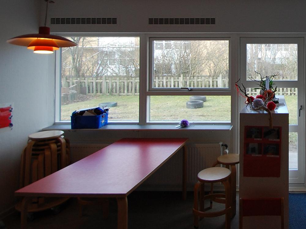 Indendørs ventilation i fællesrum i Hjallerup Børnehave