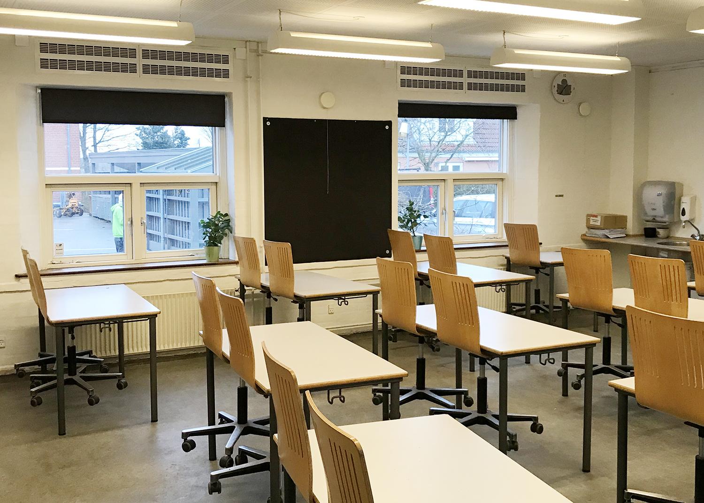 MicroVent ventilationssystem i klasselokale på Køge Bugt Privatskole