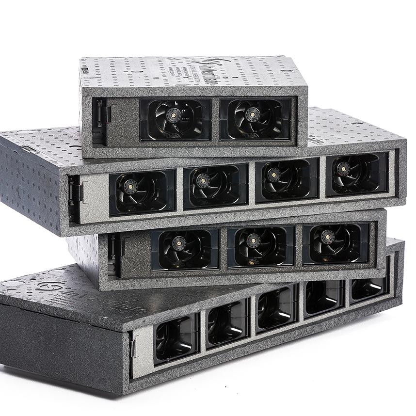 MicroVent ventilationsenheder ovenpå hinanden