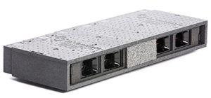 MicroVent ventilationsenhed med 4 sluser og skille i midten