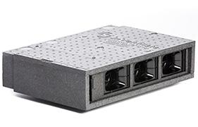 Lille MIcroVent enhed med 3 sluser til ventilation