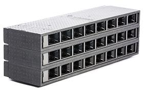 Store MicroVent ventilationer med 8 sluser ovenpå hinanden