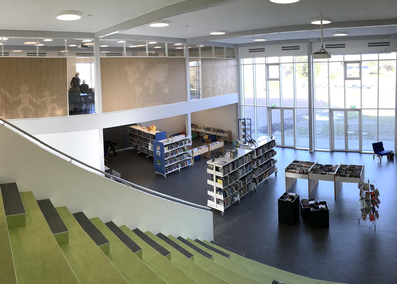 MicroVent ventilation installeret i bibliotek på Nyrupskolen