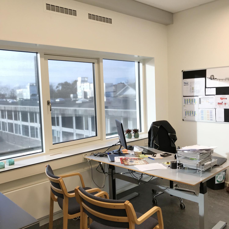 MicroVent ventilation på kontor på Nyrupskolen
