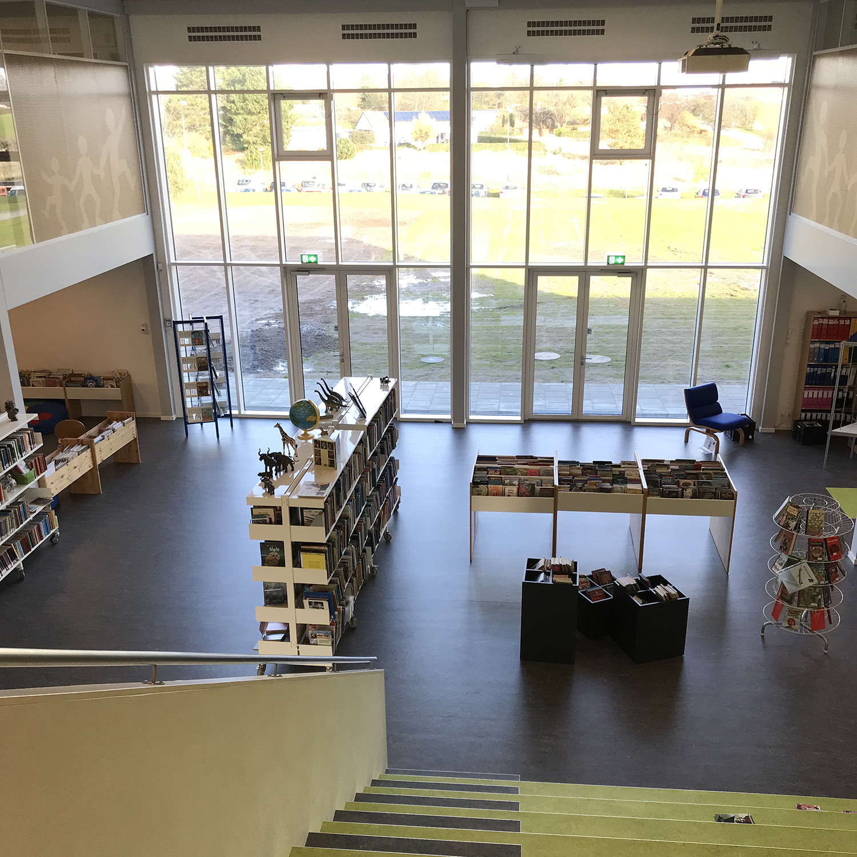 MicroVent ventilationssystem på biblioteket på Nyrupskolen