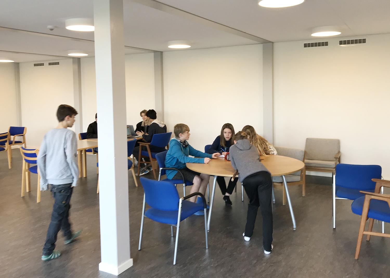 MicroVent ventilation i fællesrum på Nyrupskolen