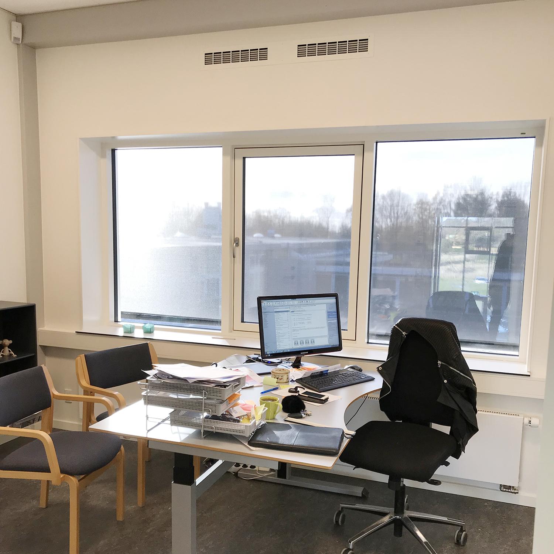 MicroVent ventilationssystem i kontor på Nyrupskolen