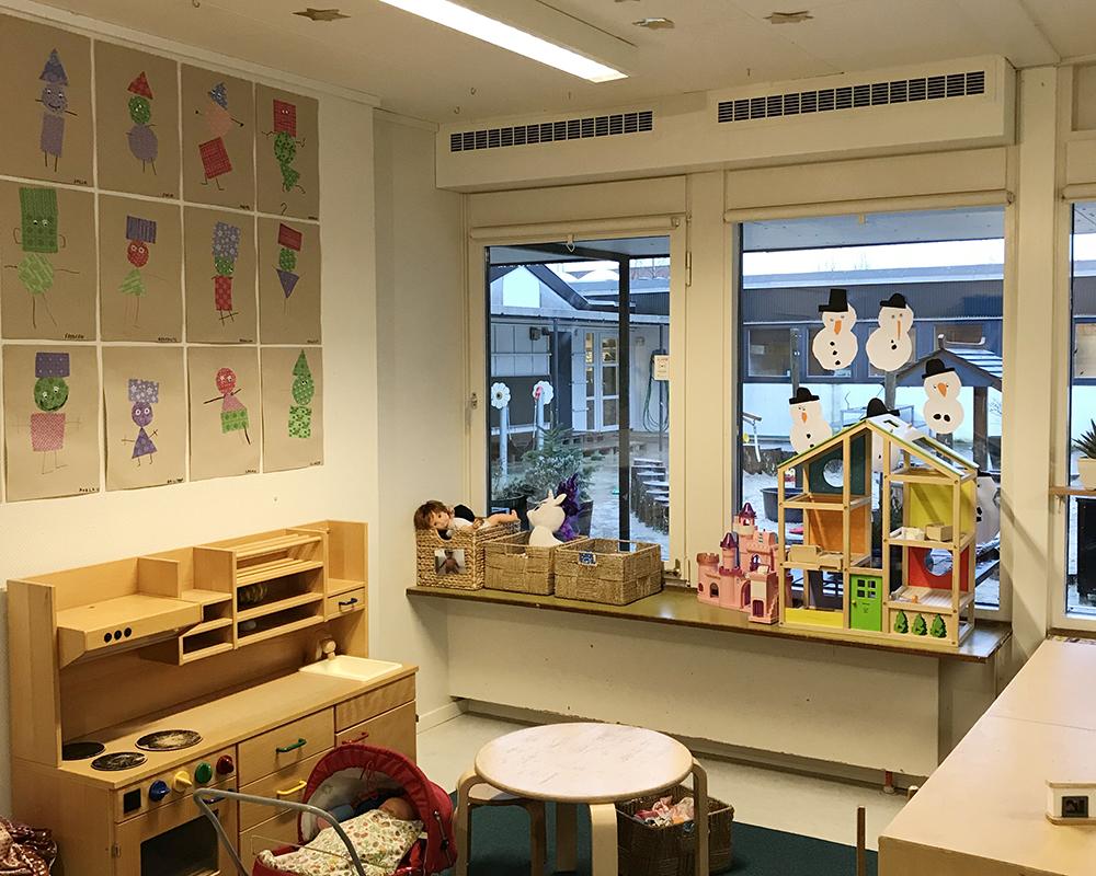 MicroVent ventilation sikrer sundt indeklima i legerum i Børnehuset Rosengården