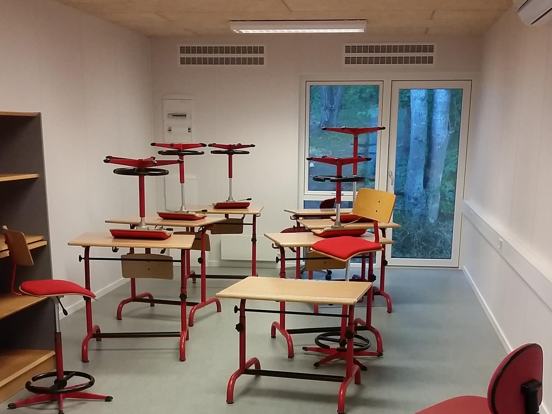 MicroVent ventilation i klasselokale på Skivehus Skole