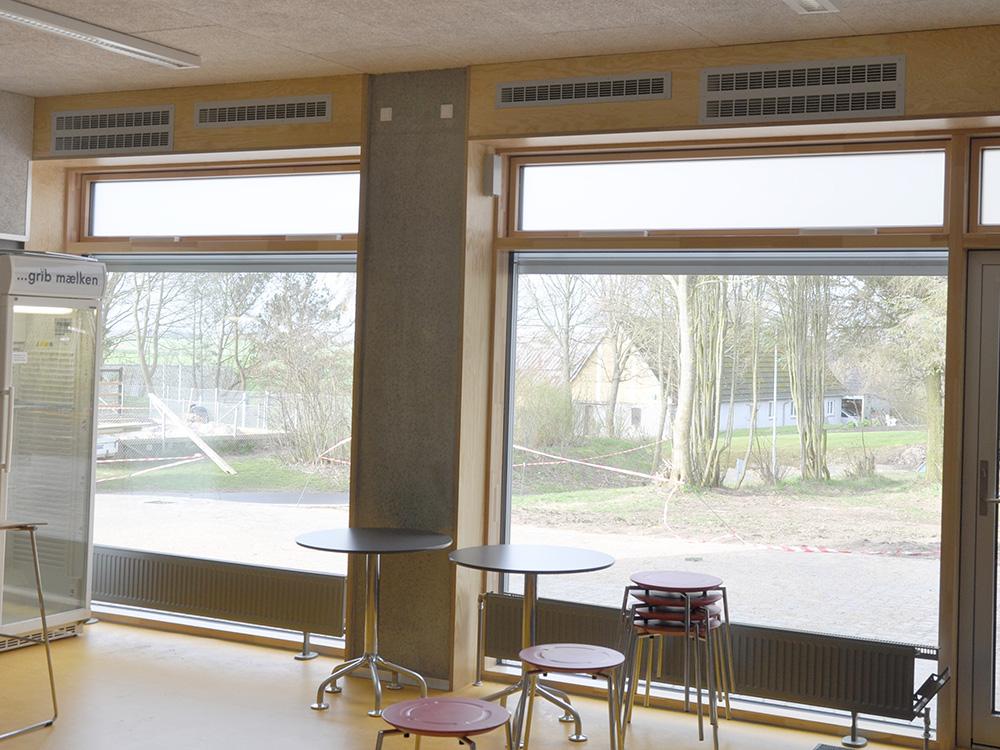 MicroVent ventilation indendøre på Hadbjerg Skole