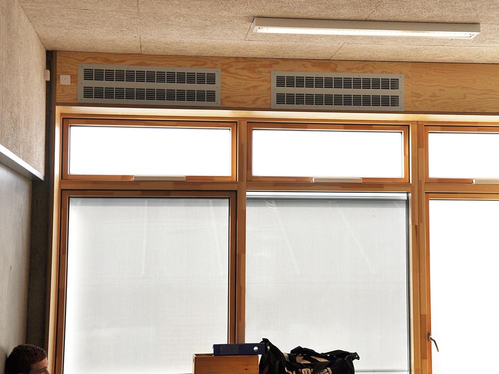 MicroVent ventilation i klasselokale på Hadbjerg Skole