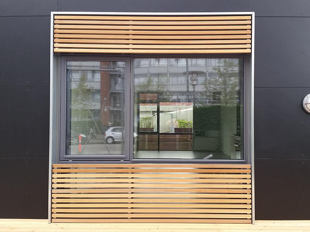 Udendørs installation af MicroVent ventilation på Ungdomsklubben Garagen