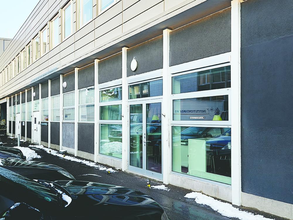 Udendørs MicroVent ventilation installation på Glostrup Hospital