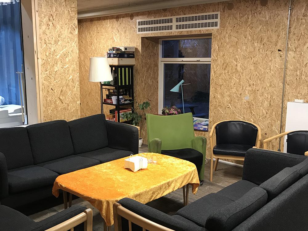 MicroVent ventilationssystem installeret i fælles lokale i Musicon