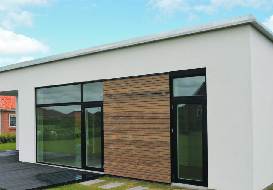 MicroVent ventilation indbygget i facaden i Mini CO2 hus