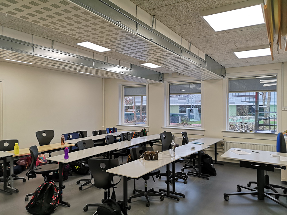 Performance+ ventilation sikrer frisk indeklima på Stenløse Privatskole