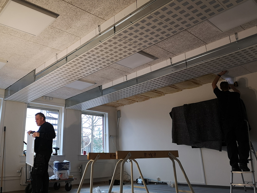 Installation af Performance+ ventilationssystem i gang på Stenløse Privatskole