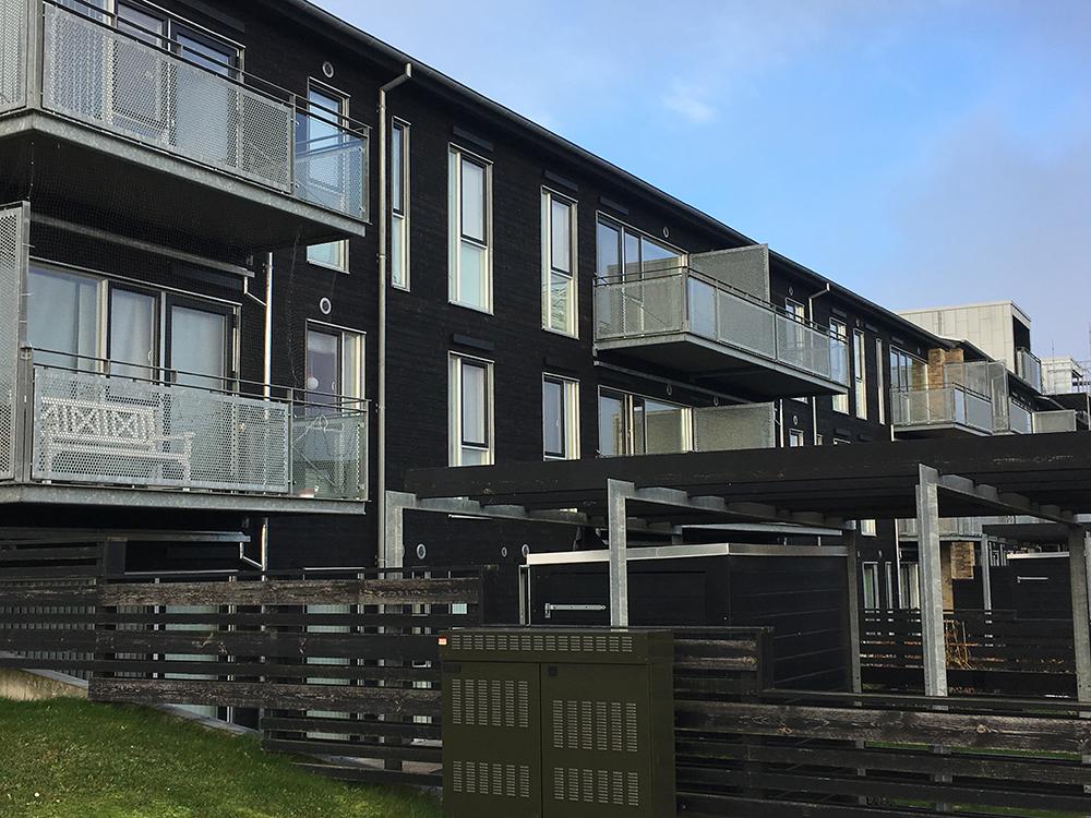 Foto af etageboliger på Sallingsundvej i Aalborg, som InVentilate har leveret ventilation til.