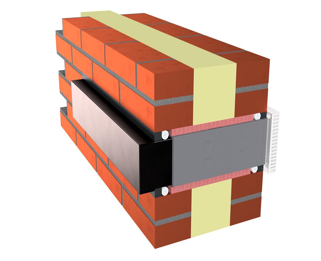 Mikroventilation integreres i facade